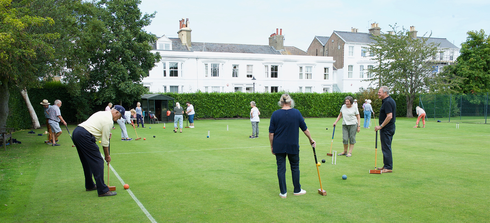 Croquet at walmer lawn tennis club